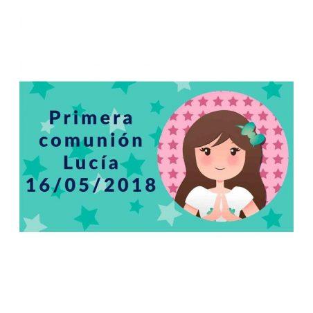 Pegatina Comunión Niña Rezando ( Pliego 48 ud) Comuniones2,28 €
