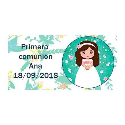 Pegatina Comunión Niña Buena ( Pliego 48 ud) Comuniones