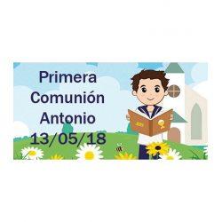 Pegatina Comunión Niño Iglesia ( Pliego 48 ud) Comuniones