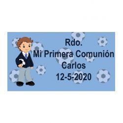 Pegatina Comunión Niño Fútbol ( Pliego 48 ud)
